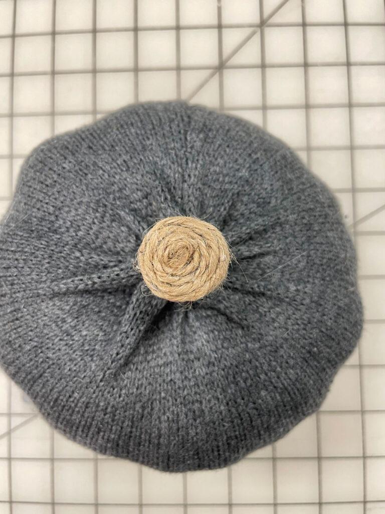 Finished sweater pumpkin stem