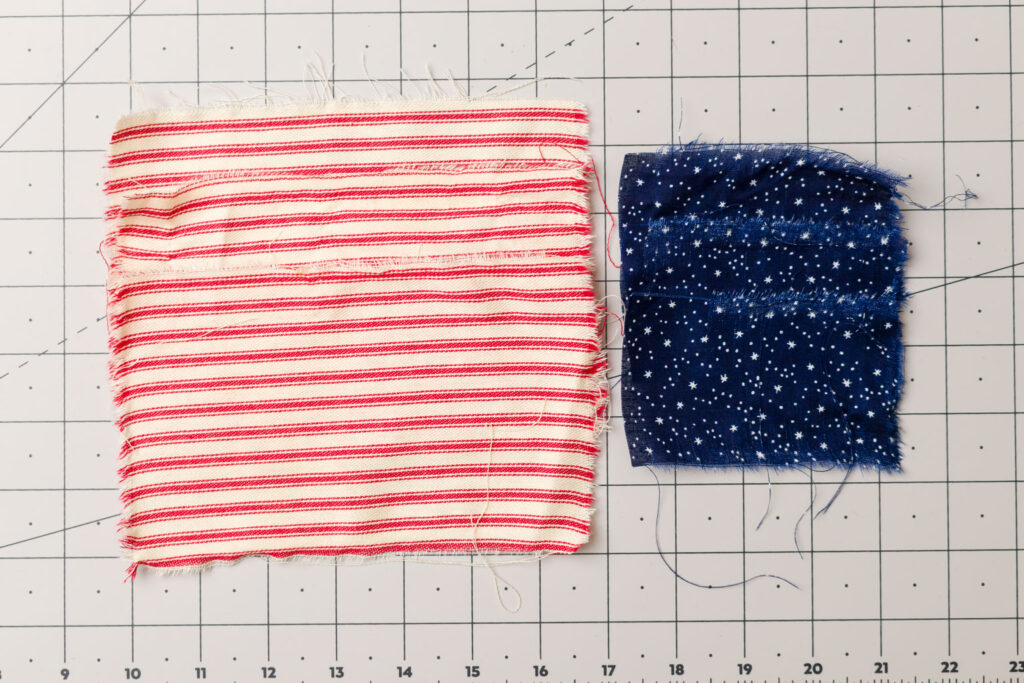 Fabric pieces for flags