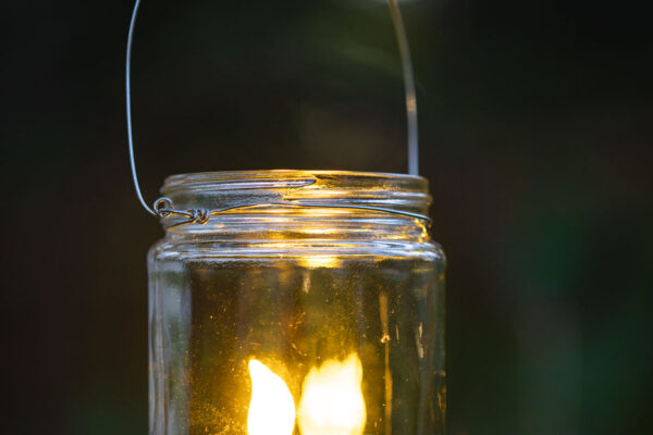 DIY Hanging Mason Jar Lights