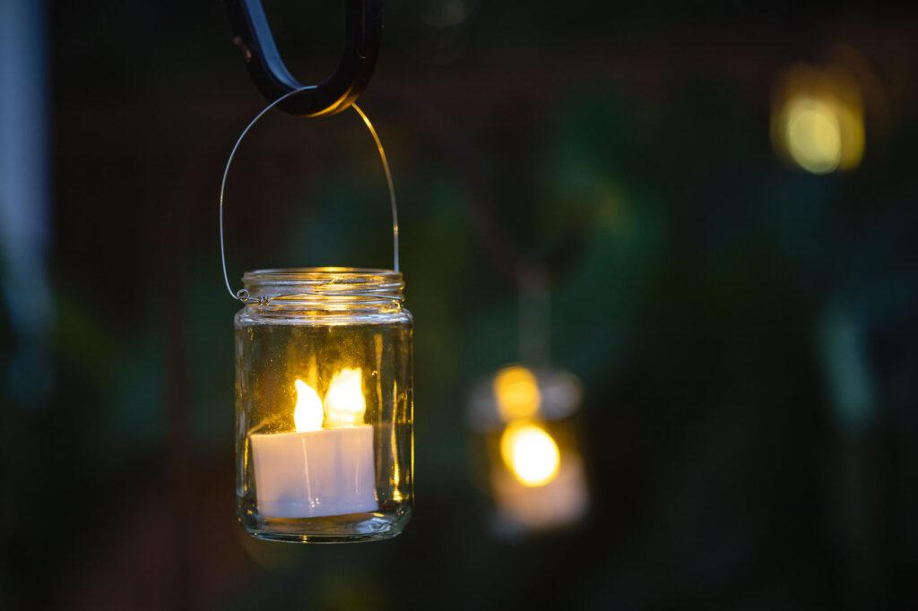 DIY Mason jar wire hangers