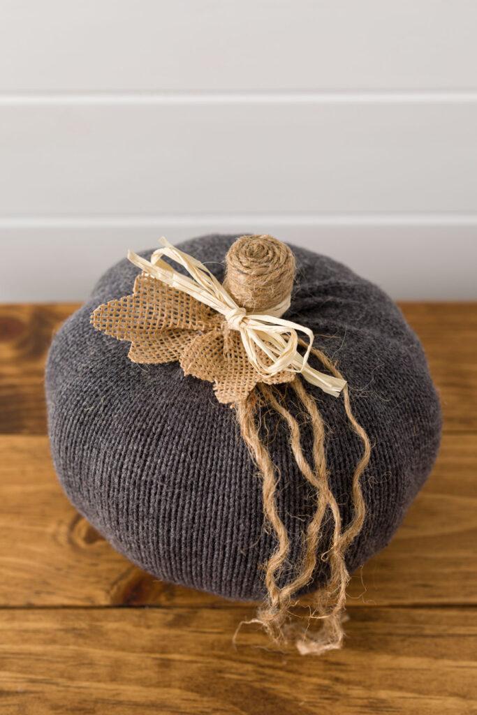 Handmade sweater pumpkin