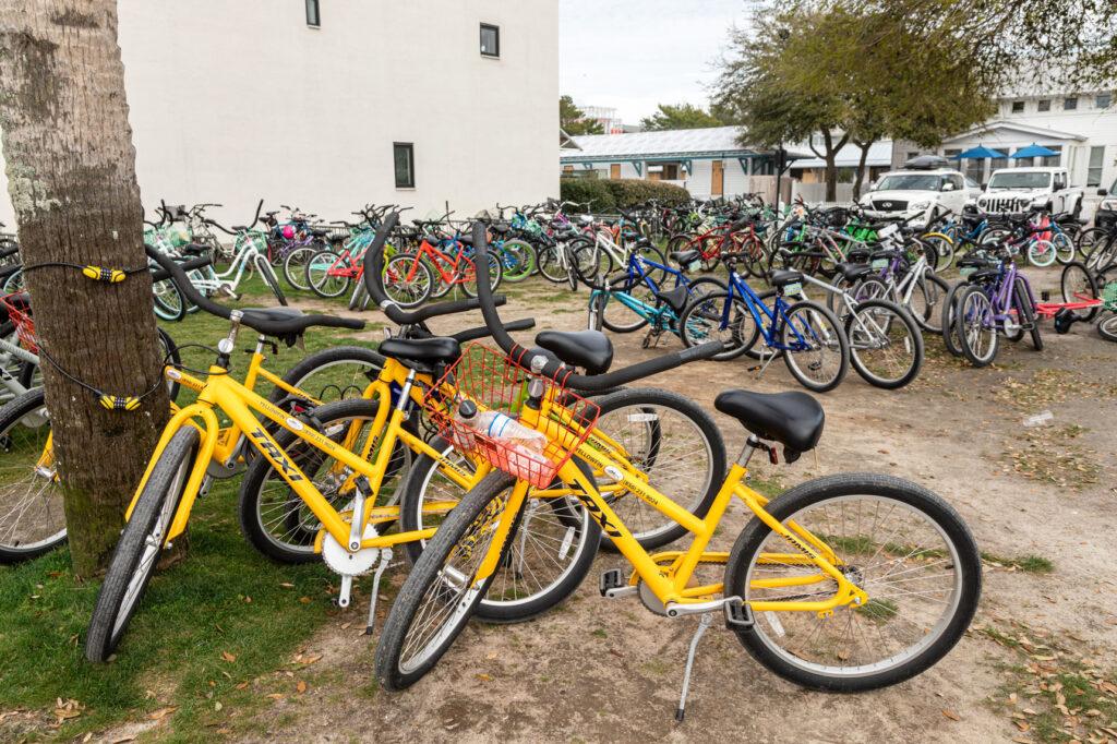 Parking lot at Seaside Florida