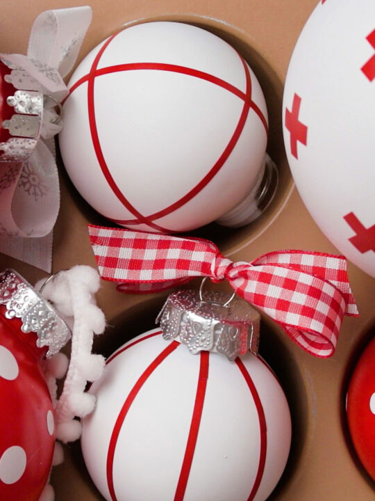 Clear Christmas Ornaments